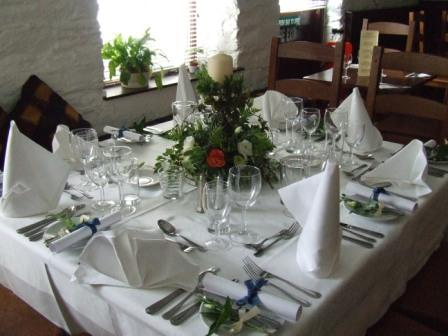 Tables set for a private function
